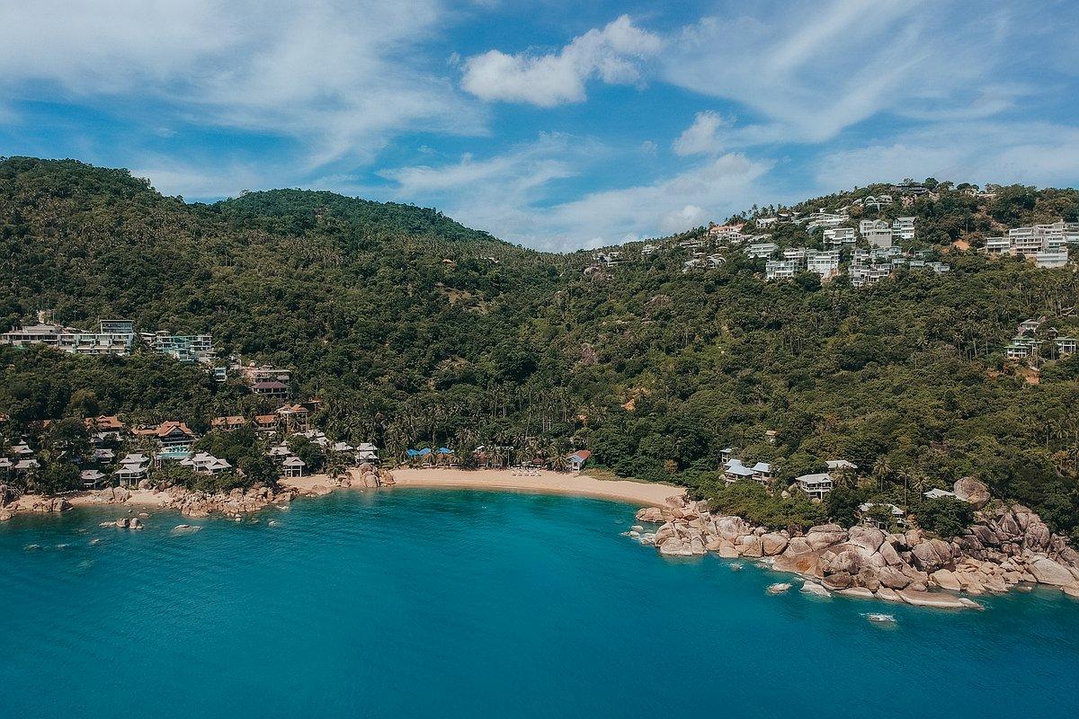Coral Cove Beach Koh Samui - Luftaufnahme der Strandes mit der Drone