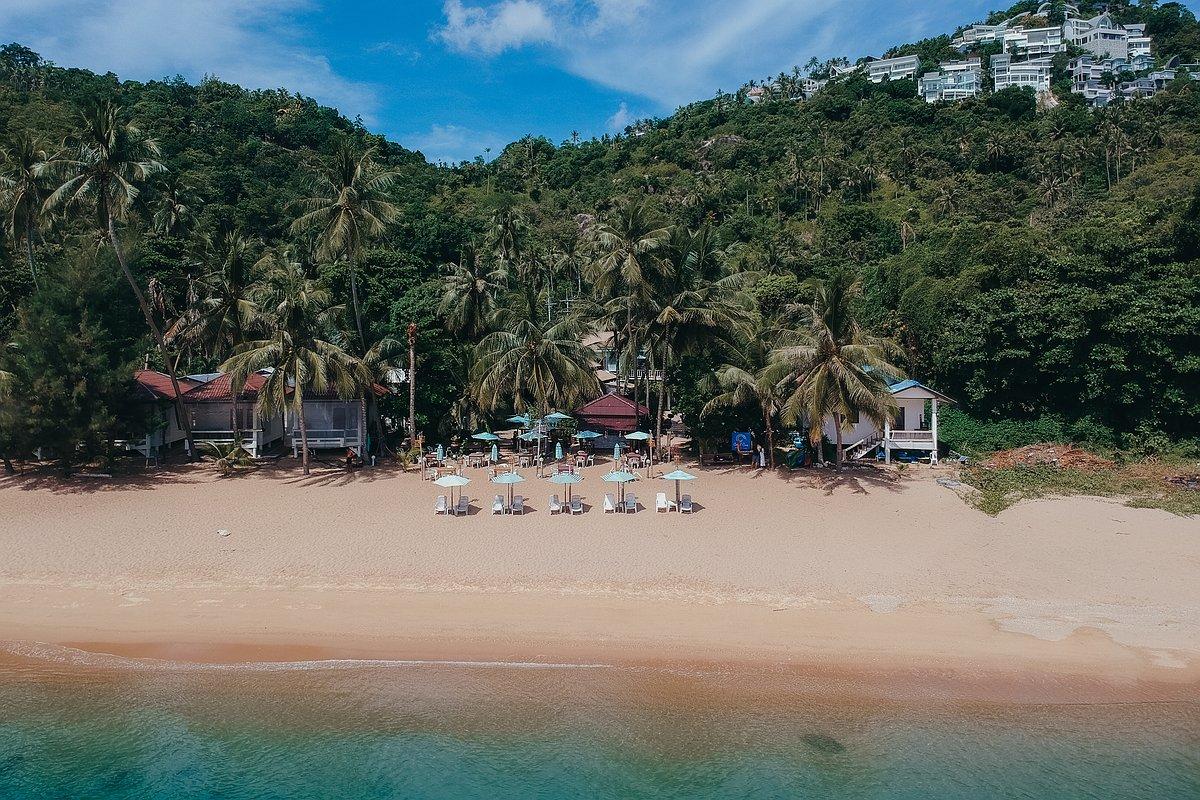 Coral Cove Beach Koh Samui - Luftaufnahme des Restaurants am Strand