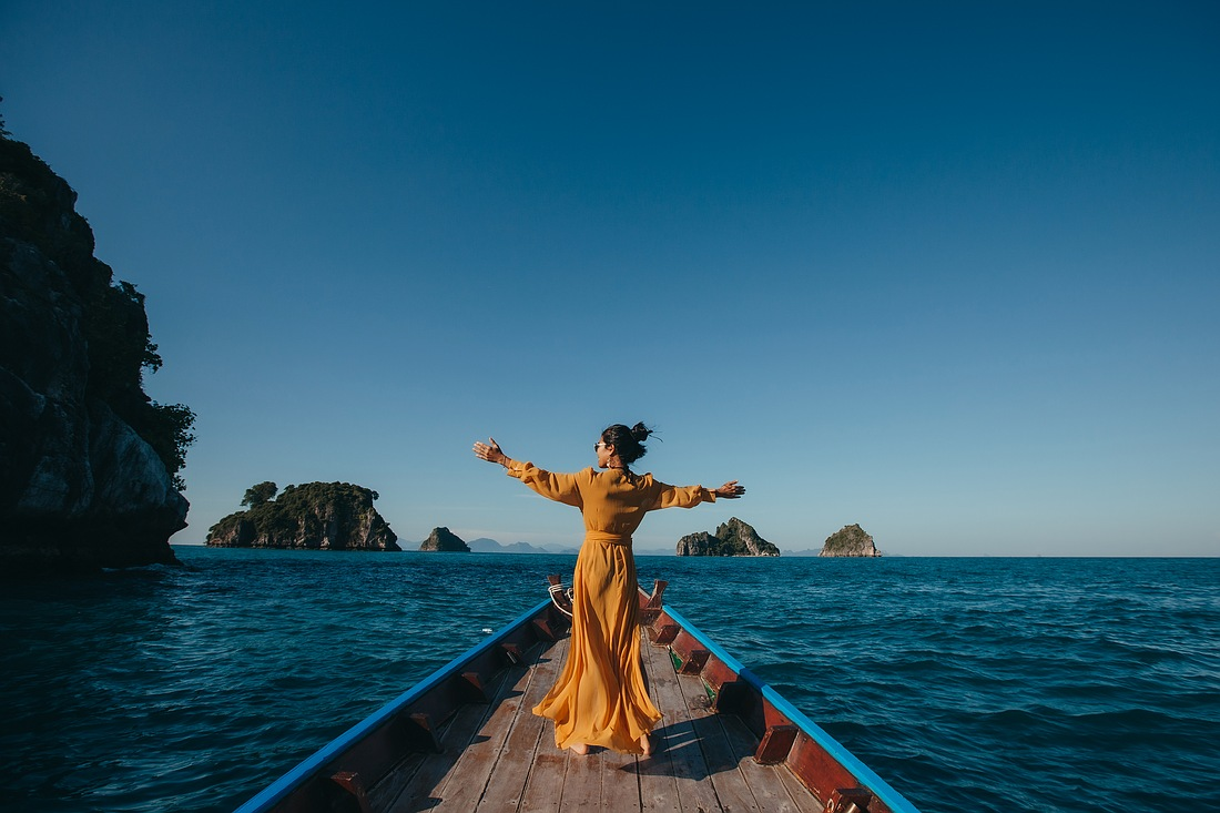 Anreise nach Koh Madsum auf dem Longtail Boot