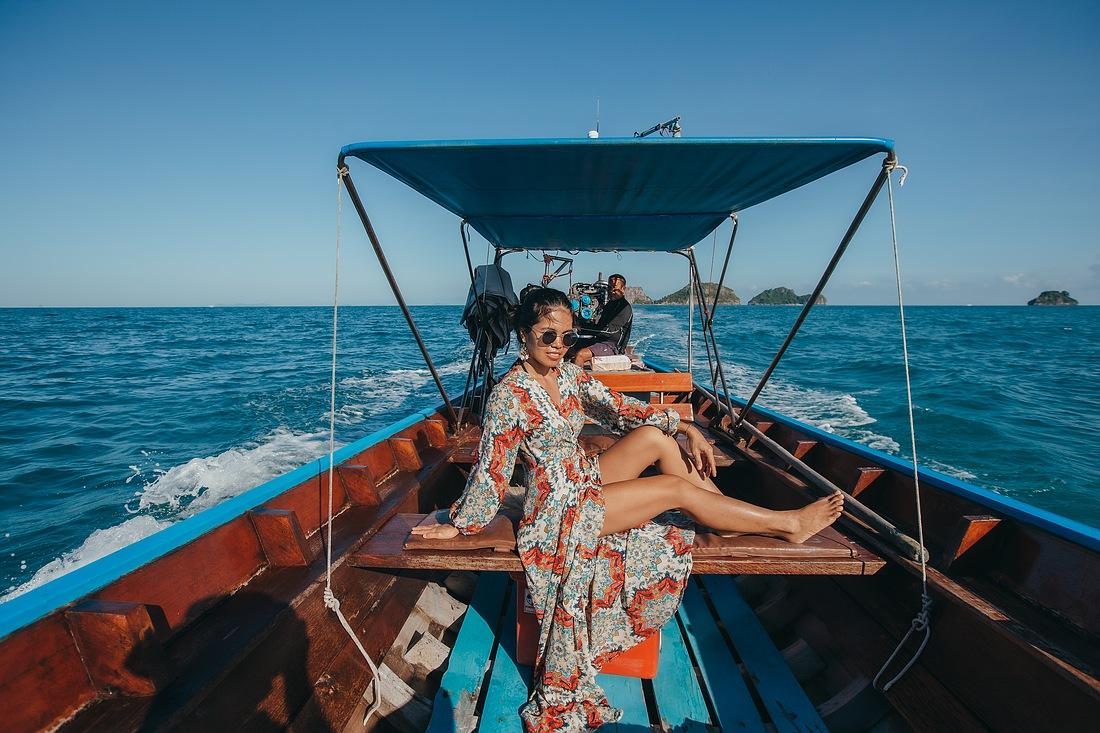Bestes Wetter bei der Anreise nach Koh Madsum mit dem Lontail Boot