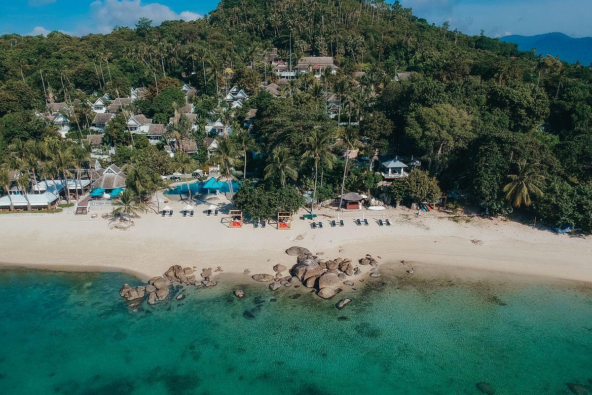 Luftansicht Laem Set Beach Koh Samui Centara Villas