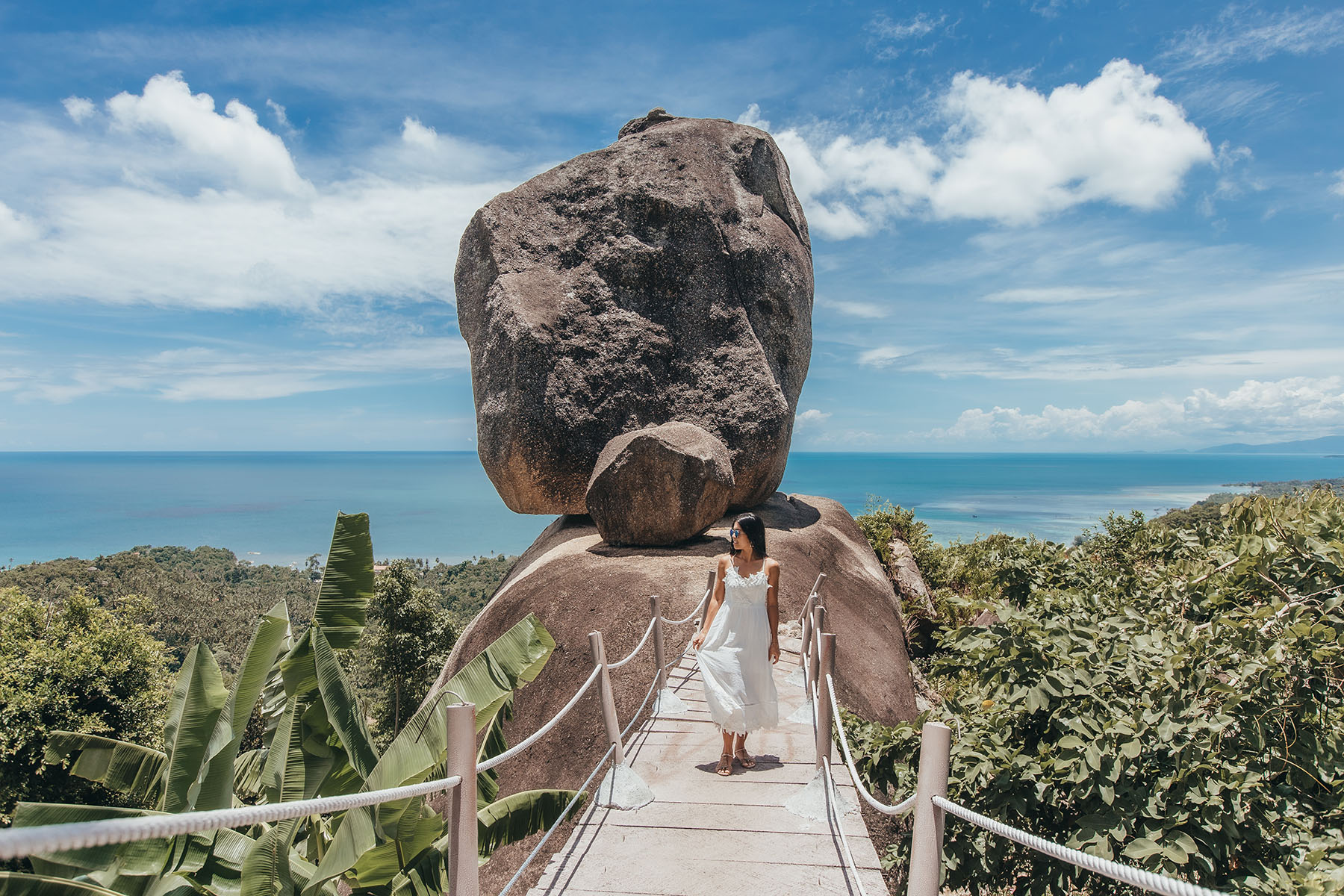 Ausblick auf den Overlape Stone auf Koh Samui