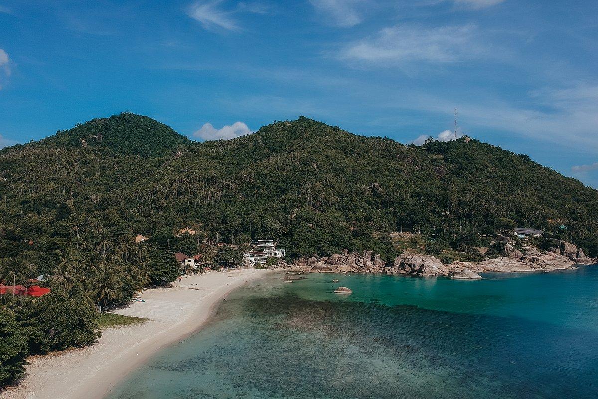 Silver Beach Koh Samui - Luftaufnahme des Strandes mit der Drohne