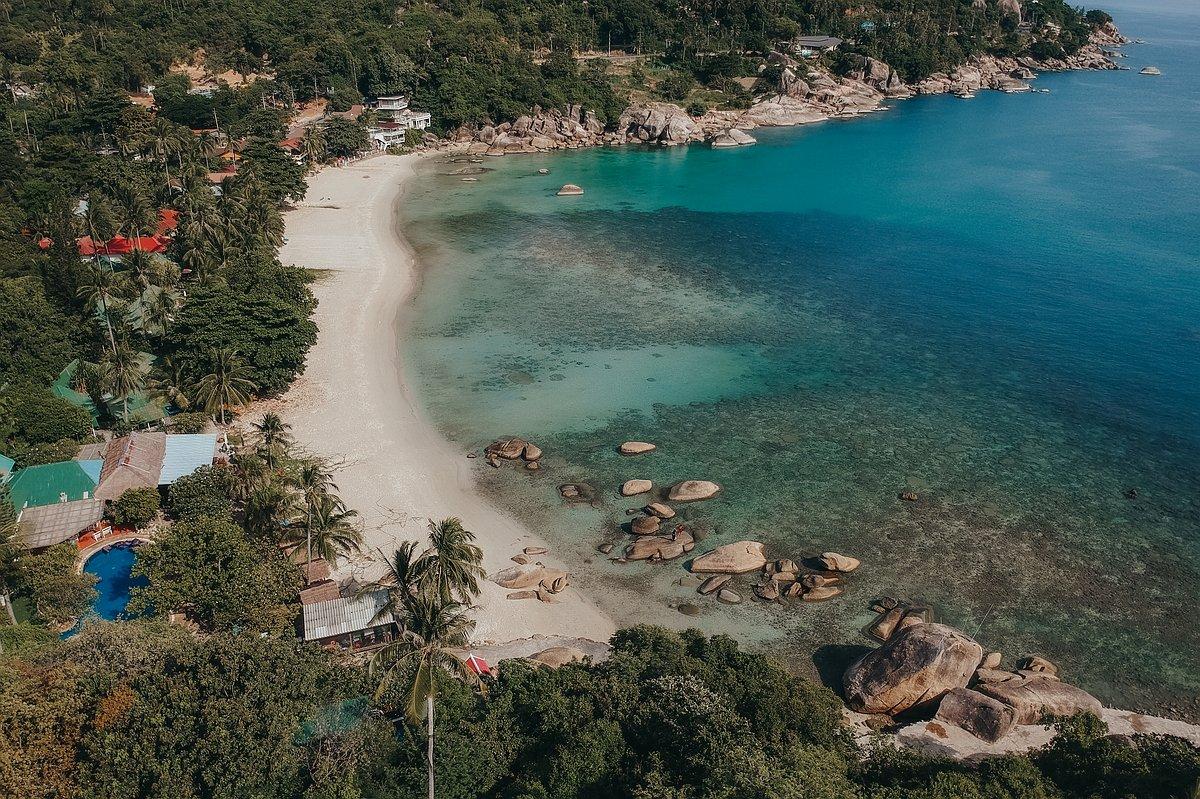 Silver Beach Koh Samui - Luftaufnahme des schönen Strandes