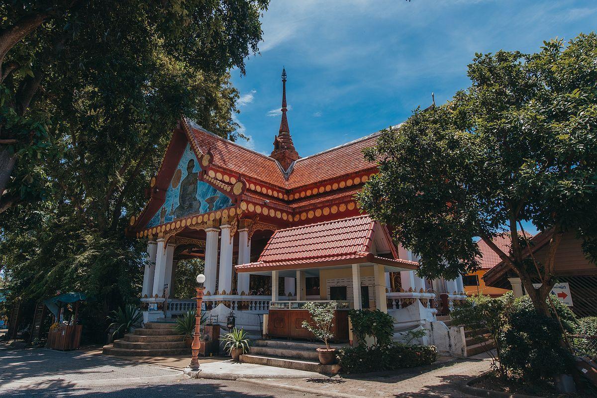 Ansicht Tempel Wat Khunaram Koh Samui