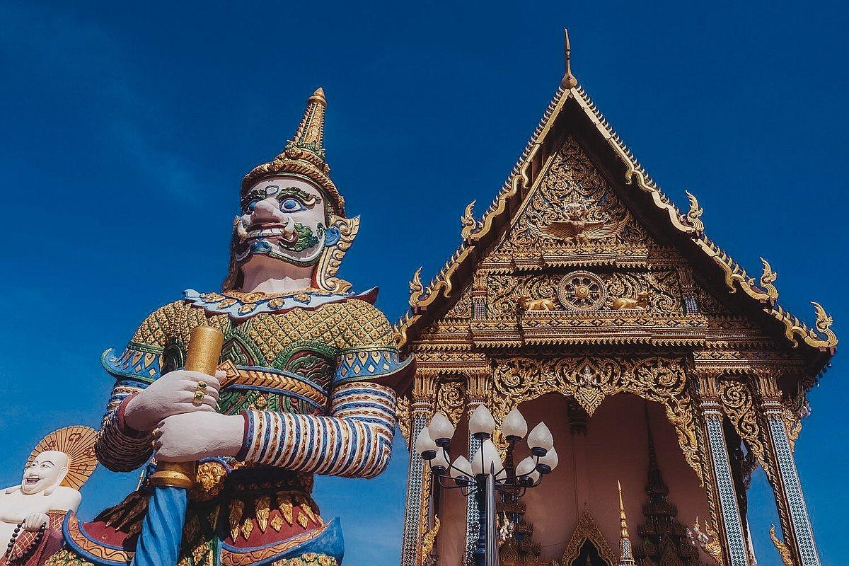 Abbildung der Ordinationshalle im Wat Plai Leam Tempel auf Koh Samui