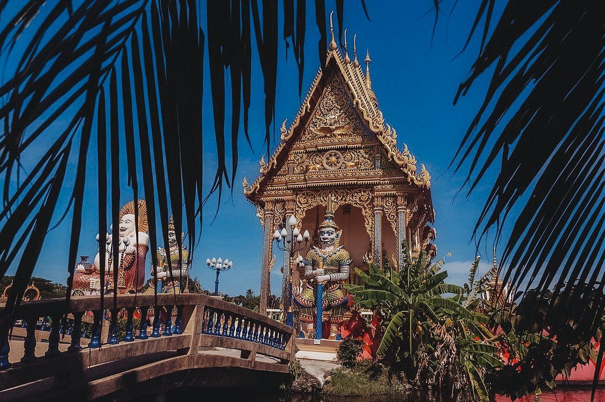 Abbildung der Ordinationshalle des Tempel Wat Plai Leam auf Koh Samui