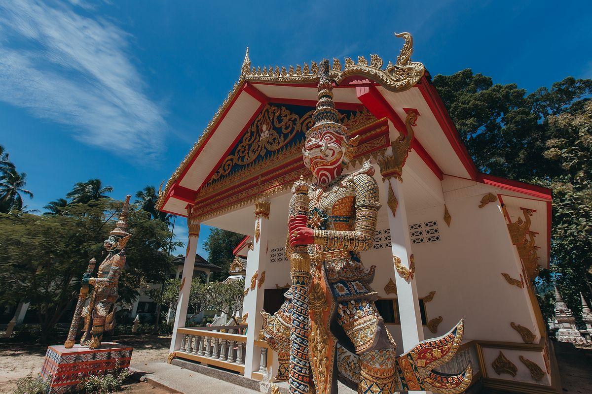 Tempelwächter im Wat Samret Koh Samui