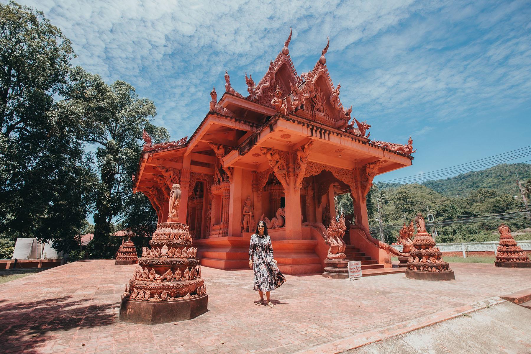 Wat Sila Ngu, der Rote Tempel auf Koh Samui