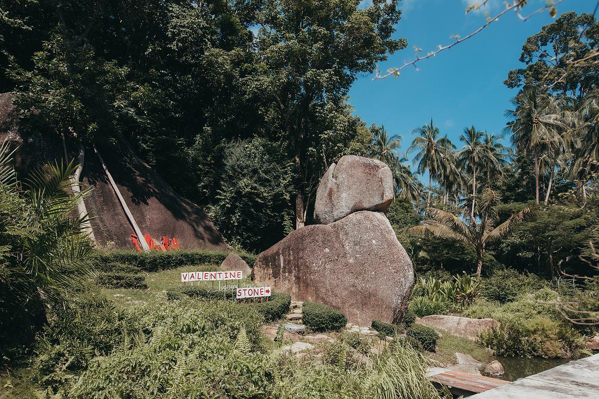 Der Lamai Viewpoint und Valentine Stone Koh Samui - Der Valentine Stein auf Koh Samui als Ausflugsziel